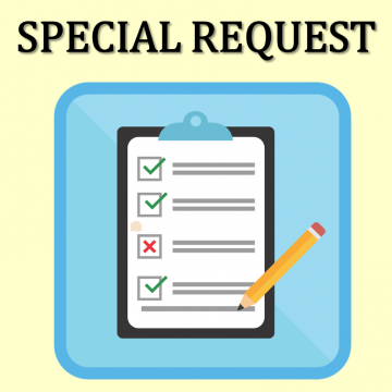Special Request Orders